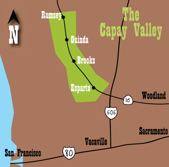 Capay Valley Map